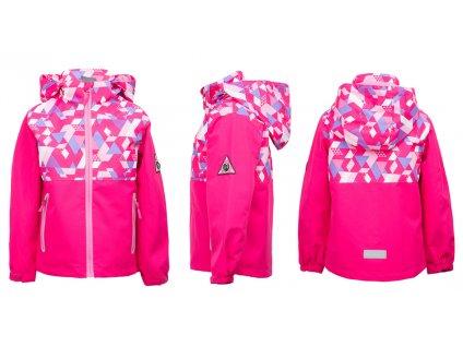 Dívčí softshellová bunda KUGO B3020 - růžová (Velikost 110)