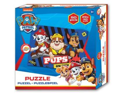 Puzzle TLAPKOVÁ PATROLA 021788 - Chase, Marshall a Rubble/50 dílků