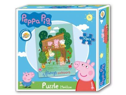 Puzzle PEPPA PIG 021948 - chaloupka/50 dílků