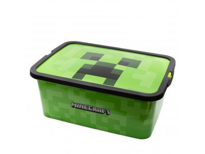 Úložný box MINECRAFT  04405 - zelený/13litrů