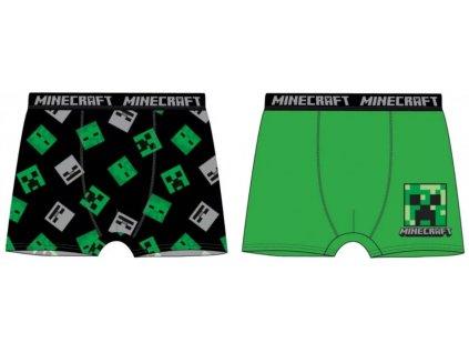 Chlapecké boxerky MINECRAFT 2pack TCS035398 - zelená/černá