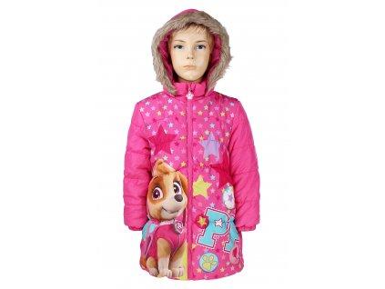 Zimní bunda-kabát TLAPKOVÁ PATROLA 750-161 - růžová