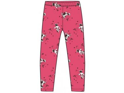 Dívčí zateplené legíny MINNIE 02688A - růžové/potisk