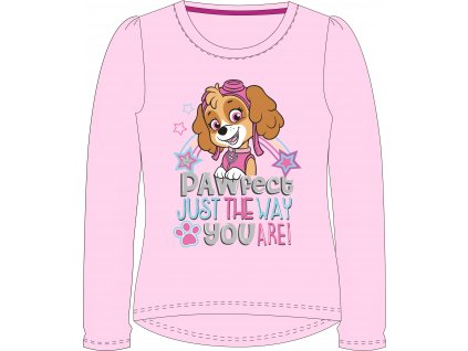 Dívčí triko TLAPKOVÁ PATROLA  SKYE 52021492 - dlouhý rukáv/světle růžová