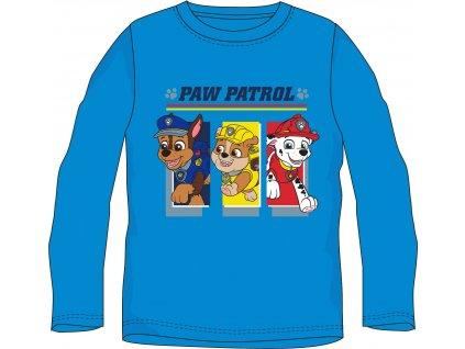 Chlapecké triko TLAPKOVÁ PATROLA 52021472 - dlouhý rukáv/modrá