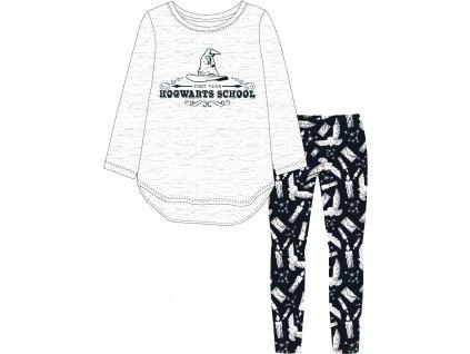 Dívčí pyžamo HARRY POTTER 5204315 - šedá/černá