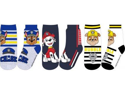 Dětské ponožky TLAPKOVÁ PATROLA 3pack 52341893 - mix barev