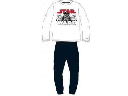 Chlapecké pyžamo STAR WARS 52048787 - bílá/tm. modrá
