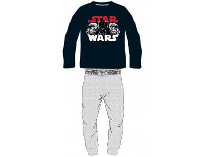 Chlapecké pyžamo STAR WARS 52048787 - tm. modrá/šedý melír