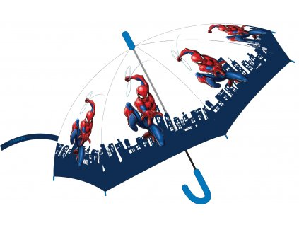 Dětský deštník SPIDERMAN 52501191 - transparentní/automatický
