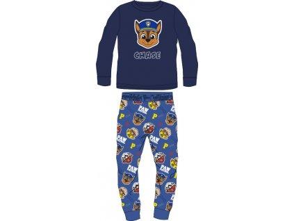 Dětské pyžamo TLAPKOVÁ PATROLA 52041898 - chlupaté CORAL/modré