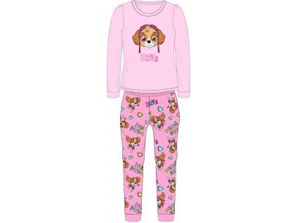 Dětské pyžamo TLAPKOVÁ PATROLA  52041899 - chlupaté CORAL/růžové