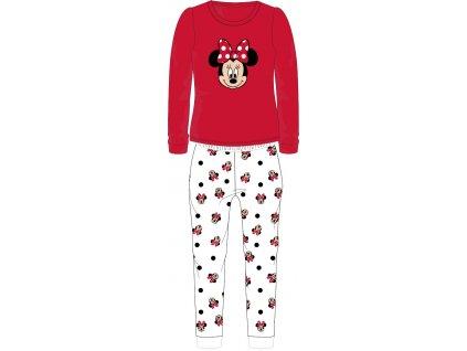 Dětské pyžamo MINNIE 52049816 - chlupaté CORAL/červené