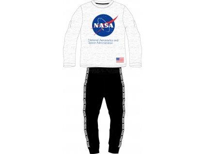 Chlapecké pyžamo NASA 5204160 - šedý melír/černá