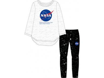 Dívčí pyžamo NASA 5204277 - šedý melír/černá