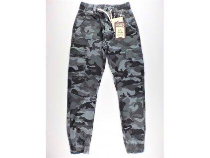 Chlapecké maskáčové kalhoty LI-07 - plátěné, šedé (Velikost 8let)
