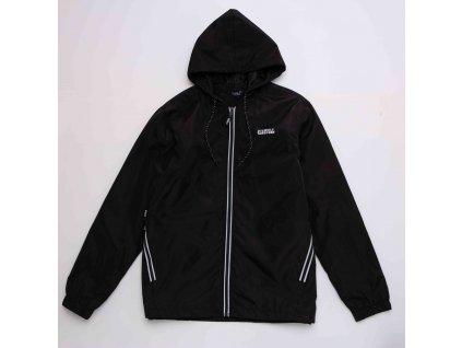 Pánská šusťáková bunda WOLF B2969 - černá (Velikost XXL)