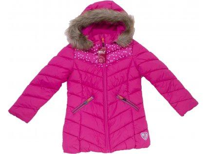 Dívčí bunda-kabát WOLF B2968 - růžová (Velikost 146)