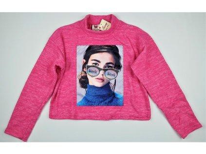 Dívčí krátké triko TUZZY 1597 - růžové, holka (Velikost 164)