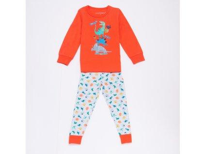 Chlapecké pyžamo S2955B - oranžové (Velikost 128)