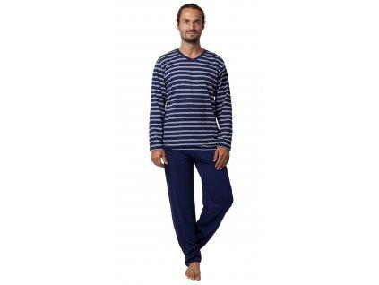 Pánské pyžamo CALVI 19-555 - tm. modré (Velikost XXL)