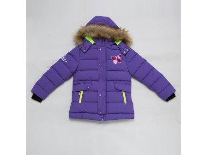 Dívčí zimní bunda WOLF B2868 - fialová - 50% SLEVA (Velikost 146)