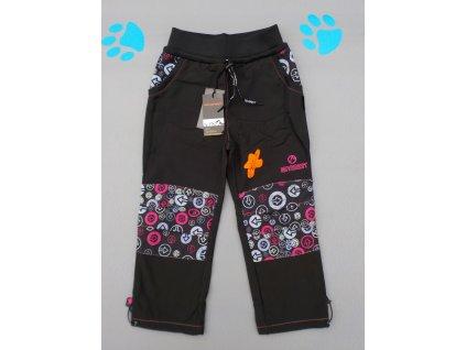 Dětské softshellové kalhoty NEVEREST FT-7281C - růžové aplikace (Velikost 152)