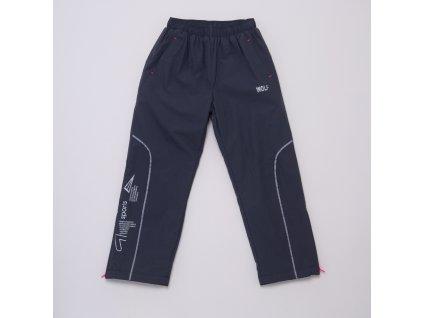 Dětské šusťákové kalhoty s flísem WOLF B2974 - sv. šedé (Velikost 128)