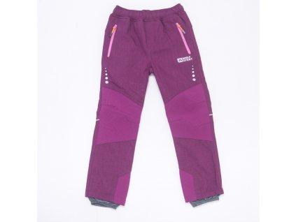 Dětské softshellové kalhoty WOLF B2997 - fialové (Velikost 146)