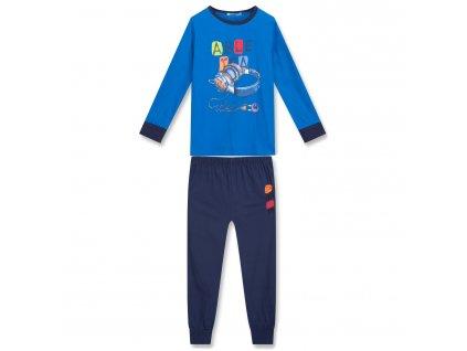 Chlapecké pyžamo KUGO MP-1242 - modré, obrázek ve tmě svítí (Velikost 164)