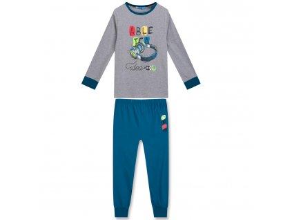 Chlapecké pyžamo KUGO MP-1242 - šedé, obrázek ve tmě svítí (Velikost 164)