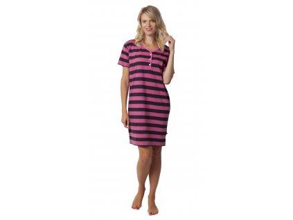 Dámská noční košile CALVI 19-499 - růžová (Velikost XXL)