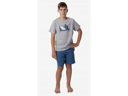 Chlapecké pyžamo CALVI 18-331 - šedé (Velikost 160)