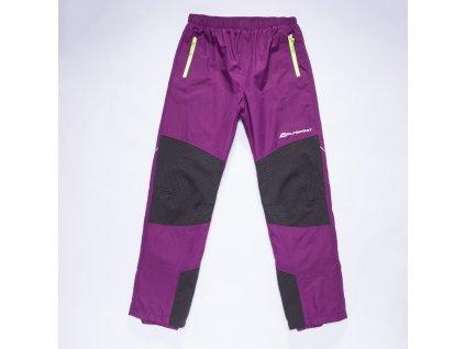 Dětské šusťákové kalhoty s flísem WOLF B2873 - fialové (Velikost 158)
