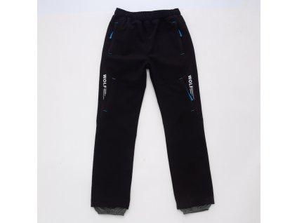 Chlapecké softshellové kalhoty B2084 - černé
