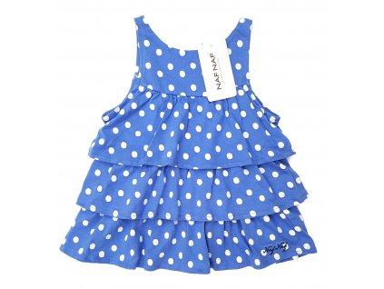 Dívčí šaty NAF NAF 1016 - puntík, modré