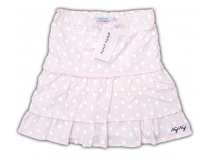 Dívčí sukně NAF NAF 1018 - puntík, sv. růžová