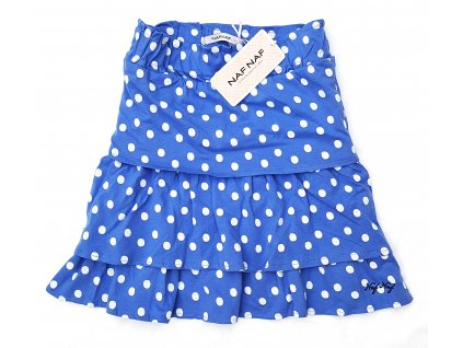 Dívčí sukně NAF NAF 1018 - puntík, modrá