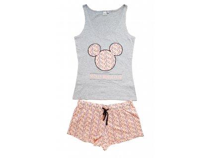 Dámské pyžamo MICKEY MOUSE 3601 - šedý melír
