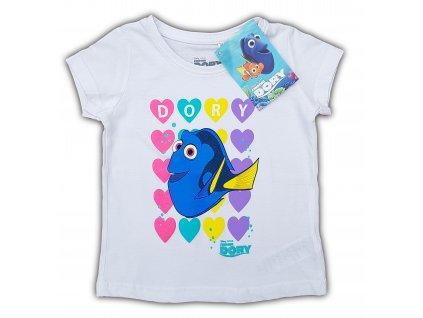 Dívčí triko DORY 3220 - bílé