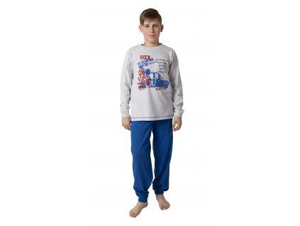 Chlapecké pyžamo CALVI 18-192 - sv. šedé