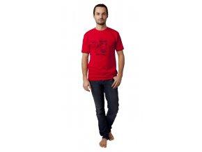Pánské triko CALVI 13-076 - červená