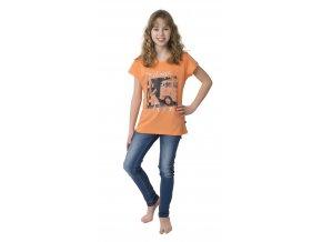 Dívčí triko CALVI 17-273 - oranžové