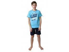 Chlapecké pyžamo s kraťasy CALVI 19-079 - tyrkysové
