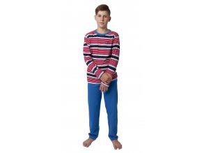 Chlapecké pyžamo CALVI 18-338 - červený pruh