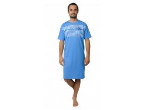 Pánská noční košile CALVI 19-071 - sv. modrá
