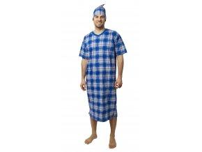 Pánská noční košile CALVI 18-179 - světlejší modrá