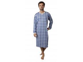 Pánská noční košile CALVI 17-617 - modrošedá