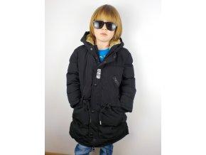 Chlapecká bunda-kabát BB YY-2723 - černá (Velikost 8let)