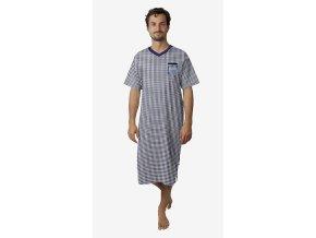 Pánská noční košile CALVI 18-436 - tm. modrá (Velikost XXL)
